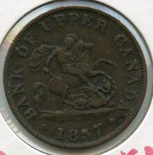 1857 Bank of Upper Canada - Half Penny Token - JN596