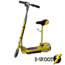 Kids Yellow Electric Scooter Rechargeable Battery Powered Ride On eScooter Seat