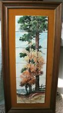 Large Vintage Signed Clyde E. Gray 1973 Framed Tile Art East Texas Artist