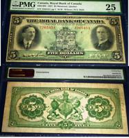 CANADA . ROYAL BANK OF CANADA 1927 $5 PMG 25