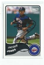 Jacque Jones Signed 2003 Topps Bazooka  Card #86
