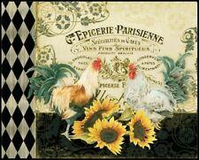 "Cutting Board - Flexible! - ""Gde Epicerie Parisienne"" - Gourmet Size  12"" x 15"""