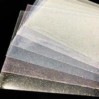 A4 Glitter Transparent Vinyl Leatherette Fabric SheetsDIY HandmadeBowsCraft