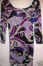 NEW LOOK LADIES PURPLE SWIRL LONG TUNIC SIZE 8 RRP £21.99 NOW £5