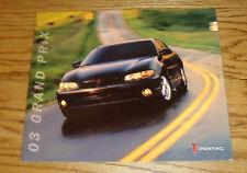 Original 2003 Pontiac Grand Prix Deluxe Sales Brochure 03 SE GT GTP