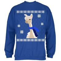 Big Alpaca Scarf Ugly Christmas Sweater Mens Sweatshirt