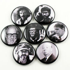 "Horror Director Icons Series 1 Set - 1"" Pinback Buttons - Carpenter Romero Raimi"