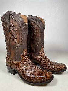 Caiman Belly Skin tan Boots Botas Caiman Miel Original Western Cowboy Exotic Skin