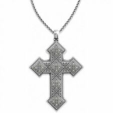 NWT BRIGHTON Mumtaz silver cross convertible necklace short to long length $84