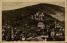 Wertheim am Main alte Postkarte ~1930 Blick auf Altstadt Gesamtansicht mit Burg