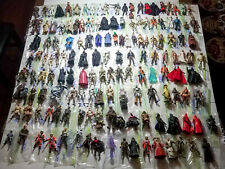 Massive Lot 150+ GENUINE Star War Action Figures, Accessories, Weapons, Sabers