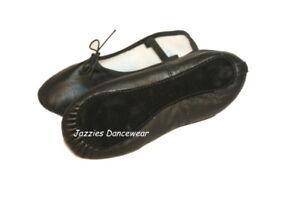 Boys / Girls / Ladies Black Ballet Shoes NEW Various Sizes