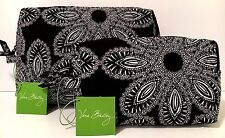 Vera Bradley BLANCO BOUQUET MEDIUM & LARGE COSMETIC Bag Case Set NWT