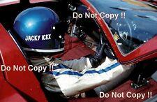 Jacky pela Ferrari 512S campeonato mundial tenido coches retrato 1970 fotografía