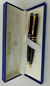 Waterman Expert Black & Gold Ballpoint Pen & 0.7 Pencil Set In Bx Mint Original*