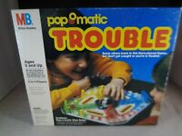 Vintage 1986 Pop O Matic Trouble Board Game Milton Bradley MB 4658 - Complete