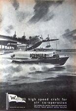 1941 'WALTON' Wartime High-Speed Motor Launch Ad #4 - WW2 Naval Print Advert