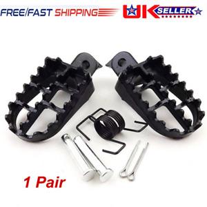 2pcs Black Aluminum Motorcycle Race Wide Foot Pegs Set For Honda XR50 CRF100 UK