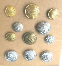 More details for 11 x vintage antique fire service brigade  uniform buttons scotland