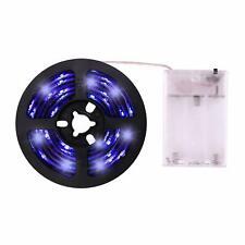 UV Light Strip LED Black Battery Powered Waterproof Lightstrip Home Lighting