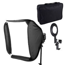 "60 x 60cm 24"" Portable Cube Softbox For Speed Light Flash Hotshoe Soft Box Kit"