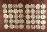 Roll of 40 silver Washington quarters lot U.S. 1951-1964 $10 Face free shipping