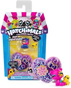 HATCHIMALS COLLEGGTIBLES Pet Obsessed Hatchipets 2-Pack New Hatchy Hearts!