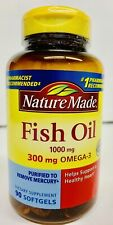 Nature Made FISH OIL 1000 mg with OMEGA-3 Support Heart 90 Softgels- B7