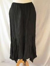 Satin Patternless Flippy, Full Skirts for Women