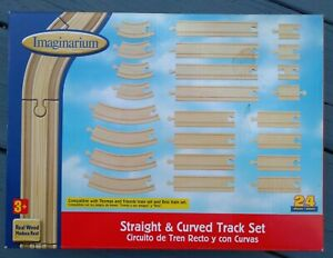 Wooden Train Track, Imaginarium Toys R Us  Straight & Curved Track set 🔥NEW🔥