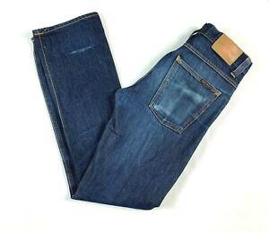 "Nudie Average Joe Dry Dirt Organic Men's Blue Jeans Actual Size W31"" L33"""