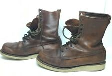 VTG MENS IRISH SETTER BY RED WING WORK BROWN BOOTS SIZE 9.5 E