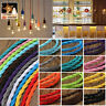 2/3 Core Twisted Vintage Style Braided Fabric Cables Flexible Lamp Lighting Cord