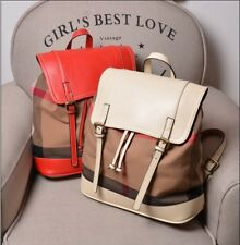 Large Women Bag Genuine Leather Backpack canvas