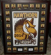 HAWTHORN 2014 Premiership WEG Match Day poster & Premiership select card set