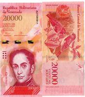 VENEZUELA Billet 20000 BOLIVARES 2016 ( 2017 )  OISEAU NOUVEAU NEW UNC NEUF