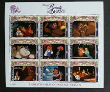St. Vincent 1992 - Beauty and The Beast Mnh Sheet with Coa