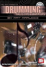 """DRUMMING-FACTS,TIPS & WARM-UPS"" MUSIC BOOK/CD BRAND NEW ON SALE-DRUM/PERCUSSION"