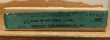 Nos Atf 12pt Goudy Bold Caps Letterpress Type