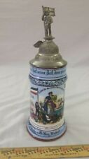 German Regimental Military Beer Stein Lithopane Authentic Hand-painted