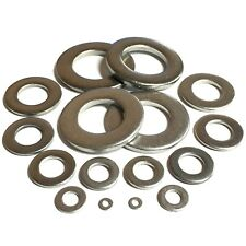 3mm 4mm 5mm 6mm 8mm 10mm 12mm 16mm 20mm FORM A FLAT WASHERS - A4 STAINLESS STEEL