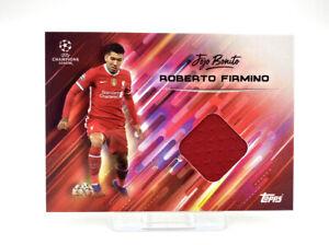 Topps Roberto Firmino O Jogo Bonito Set Patch Relic Shirt Card Liverpool Brazil