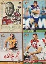 2009 NRL SELECT CHAMPIONS PROMO SET STEWART RYAN FARAH COOPER 4 CARDS