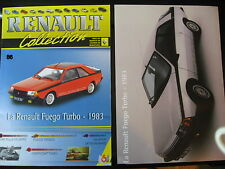 FASCICULE  86  RENAULT COLLECTION  FUEGO TURBO - 1983 AVEC INSERT