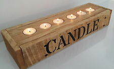 Handmade Wood/Woodwork Driftwood Candle/Tea Light Holder. Rustic Home Decor/Gift