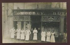 Wales Glamorgan MERTHYR TYDFIL ? CWS shopfront and staff vintage RP PPC