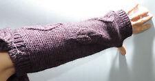 Guanti scaldabraccia donna gloves woman ENRICO COVERI GU9001 t.U c.prugna Italy