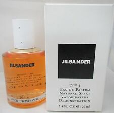 JIL Sander No. 4 for Women Eau De Parfum Spray 3.4 OZ 100ml Tester #4 In Box NEW