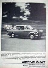 1964 Sunbeam 'RAPIER' Car Photo Print ADVERT - Vintage Auto AD Original