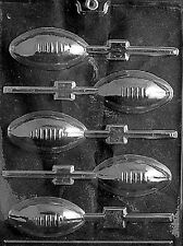 S026 Football Lolly Lollipop Chocolate Candy Soap Mold with Instructions